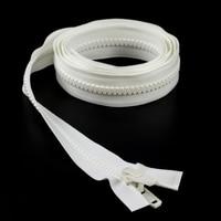 "Thumbnail Image for YKK® VISLON® #10 Separating Zipper Automatic Lock Double Pull Plastic Slider #VFUVOL107TX 84"" White"