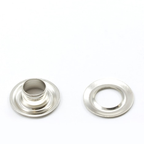 Image for Grommet with Plain Washer #0 Brass Nickel Plated 1/4