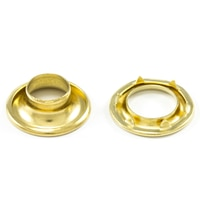 """Thumbnail Image for DOT Rolled Rim Grommet with Spur Washer #1 Brass 13/32"""" 1-gr"""
