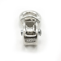 Thumbnail Image for Pulley Cast Iron Nickel Plated Single Swivel Eye Steel Sheave #3/0 1/8