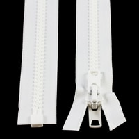 Thumbnail Image for YKK® VISLON® #10 Separating Zipper Automatic Lock Short Double Pull Metal Slider #VFUVOL-107 DX E 36