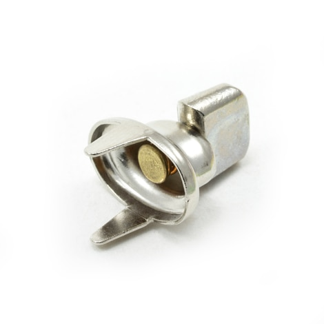 Image for DOT Common Sense Turn Button Double Prong 91-XB-78332-1A Nickel Plated Brass 100-pk