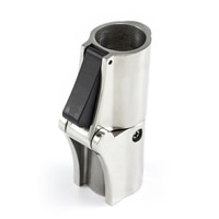 """Thumbnail Image for Locking Rail Hinge with Push Button Release #200927 Stainless Steel Type 316 7/8"""" OD Tubing"""