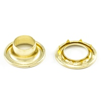 Thumbnail Image for DOT Rolled Rim Grommet with Spur Washer #4 Brass 9/16