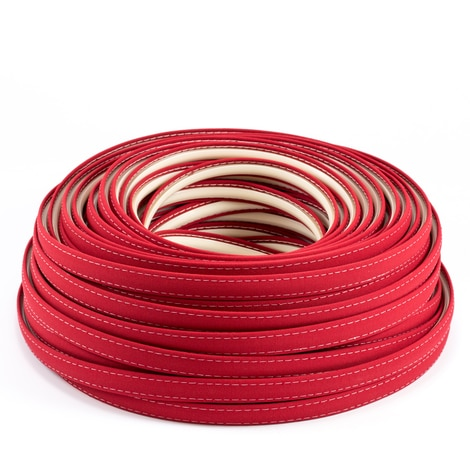 Image for Steel Stitch Sunbrella Covered ZipStrip with Tenara Thread #4603 Jockey Red 160' (Full Rolls Only)