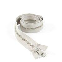 "Thumbnail Image for YKK VISLON #8 Separating Zipper Automatic Lock Long Double Pull Metal Slider #VFUVOL-87 DXL E 38"" Gray (ECUS) (CLEARANCE)"