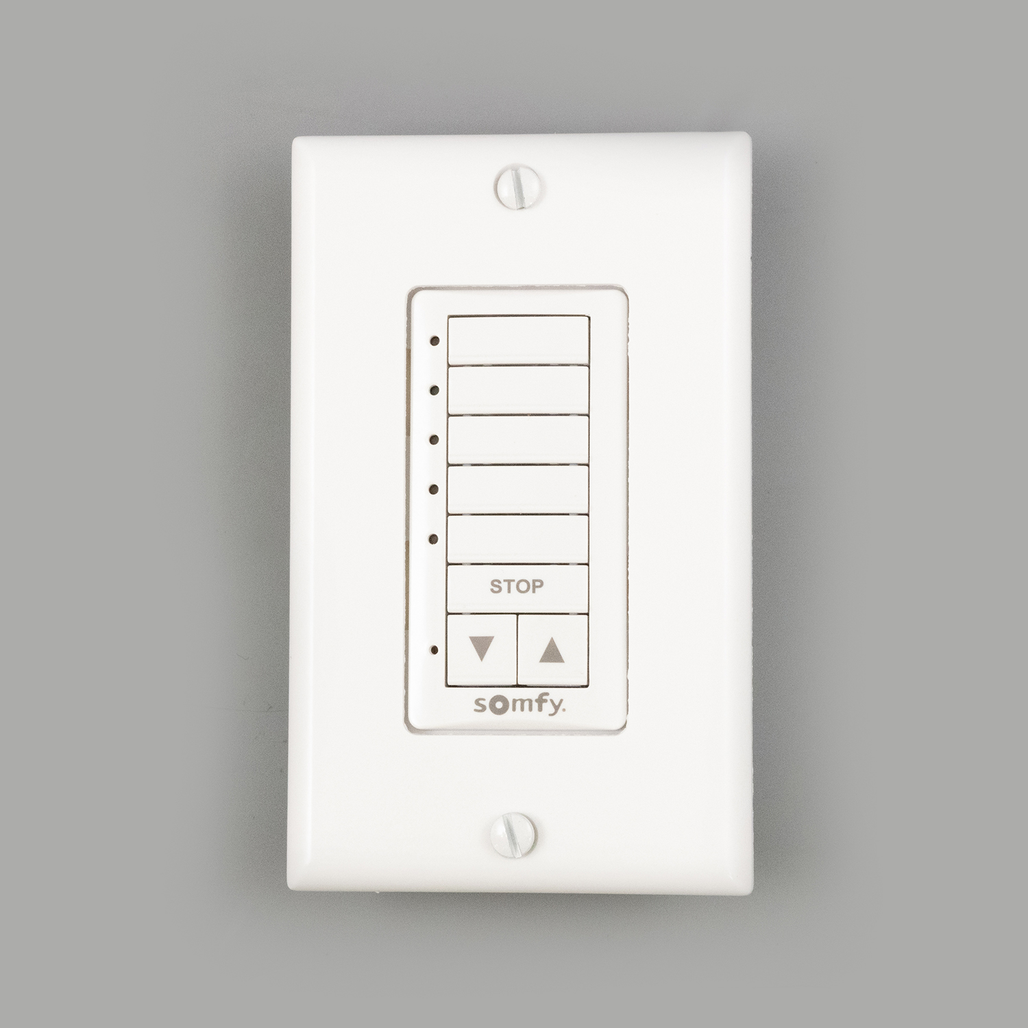 SOMFY DECOFLEX 5 CHANNEL RTS WIREFREE WALL SWITCH WHITE 1810813