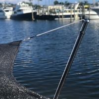 Thumbnail Image for Shade Pole Marine Tele-Sun Carbon Fiber with Carrying Bag #T10-7005CF 52