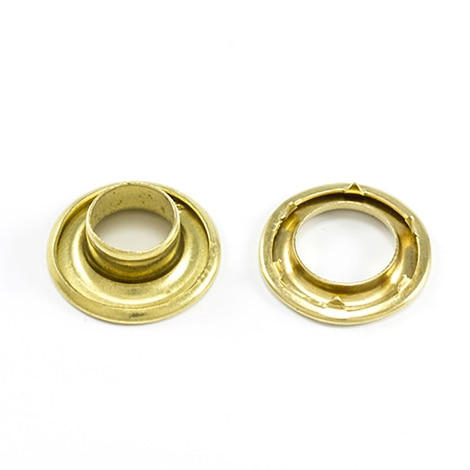 Image for DOT Rolled Rim Grommet with Spur Washer #2 Brass 7/16