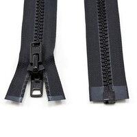 Thumbnail Image for YKK® VISLON® #10 Separating Zipper Automatic Lock Short Double Pull Metal Slider #VFUVOL-107 DX E 60