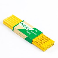 Thumbnail Image for Fabric Marking Pencils Yellow Lead Hex Untipped 72-pk 0