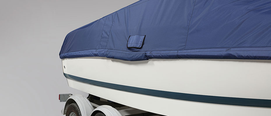 boat with cover fabric