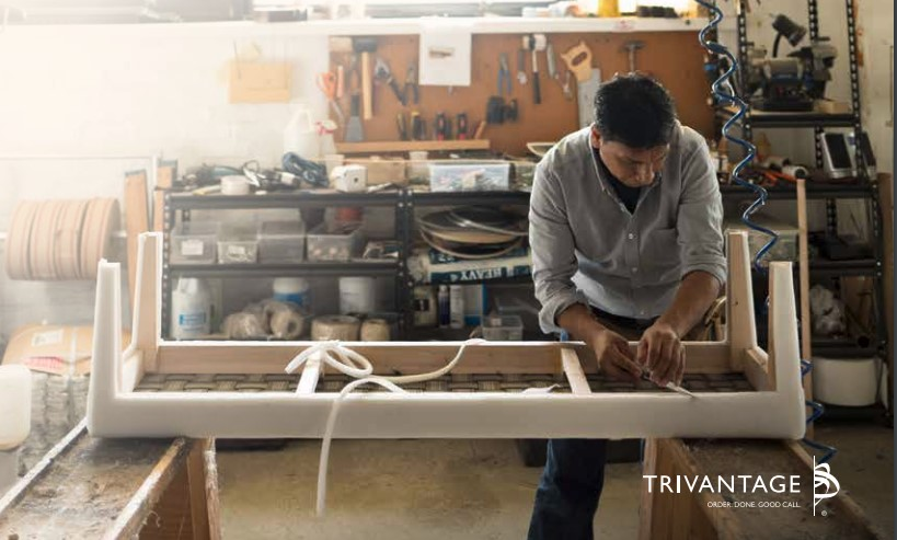 man working on furniture