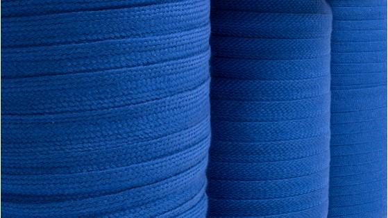 blue spools of awning braid