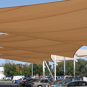 Covered parking lot