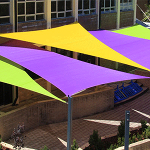 shade sails over school